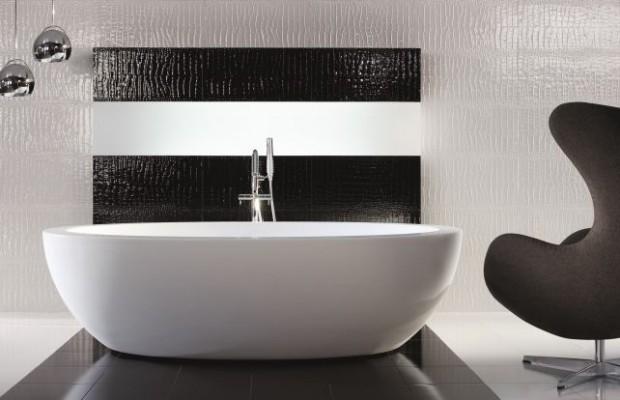 Zainspiruj Się Nieregularnymi Płytkami Na ścianie łazienki