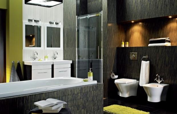 Nowoczesna łazienka Styl Minimalistyczny Dominnowacjipl