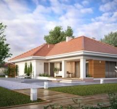 Projekt domu Ambrozja 7 BSA2098. Źródło: Extradom